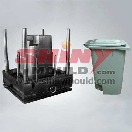120l bin mould, plastic dustbin mould