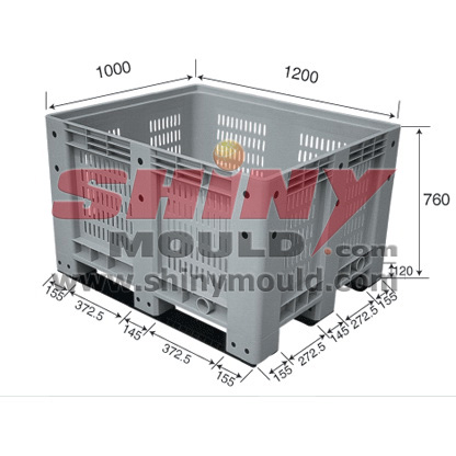 pallet box mould,collapsible container mo