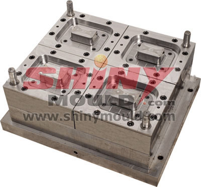 4 cavity container mould core